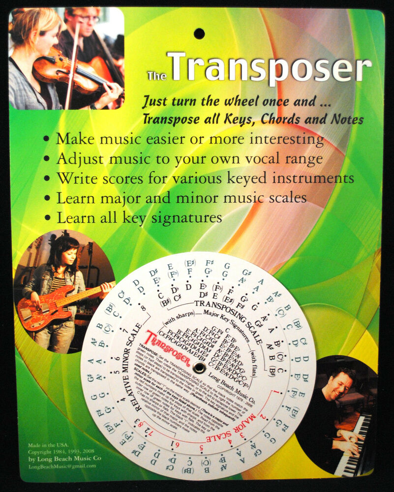 Music transpose tool for notes chords and key signature ebay hexwebz Gallery