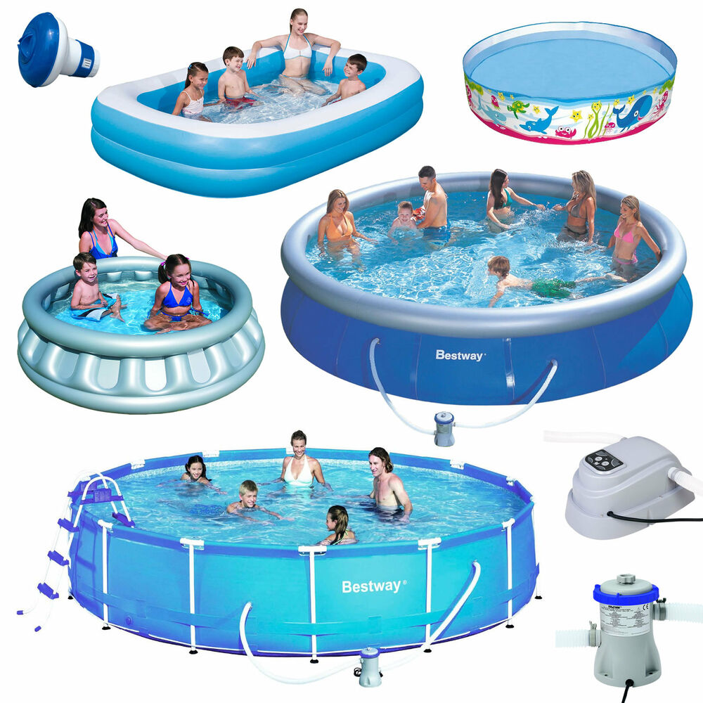 Outdoor inflatable swimming paddling pool garden family for Big garden pools