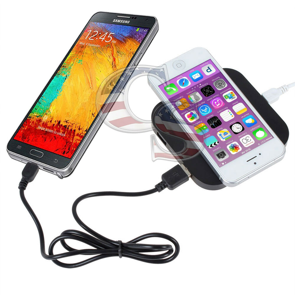 multiple usb qi wireless charging charger pad for iphone. Black Bedroom Furniture Sets. Home Design Ideas