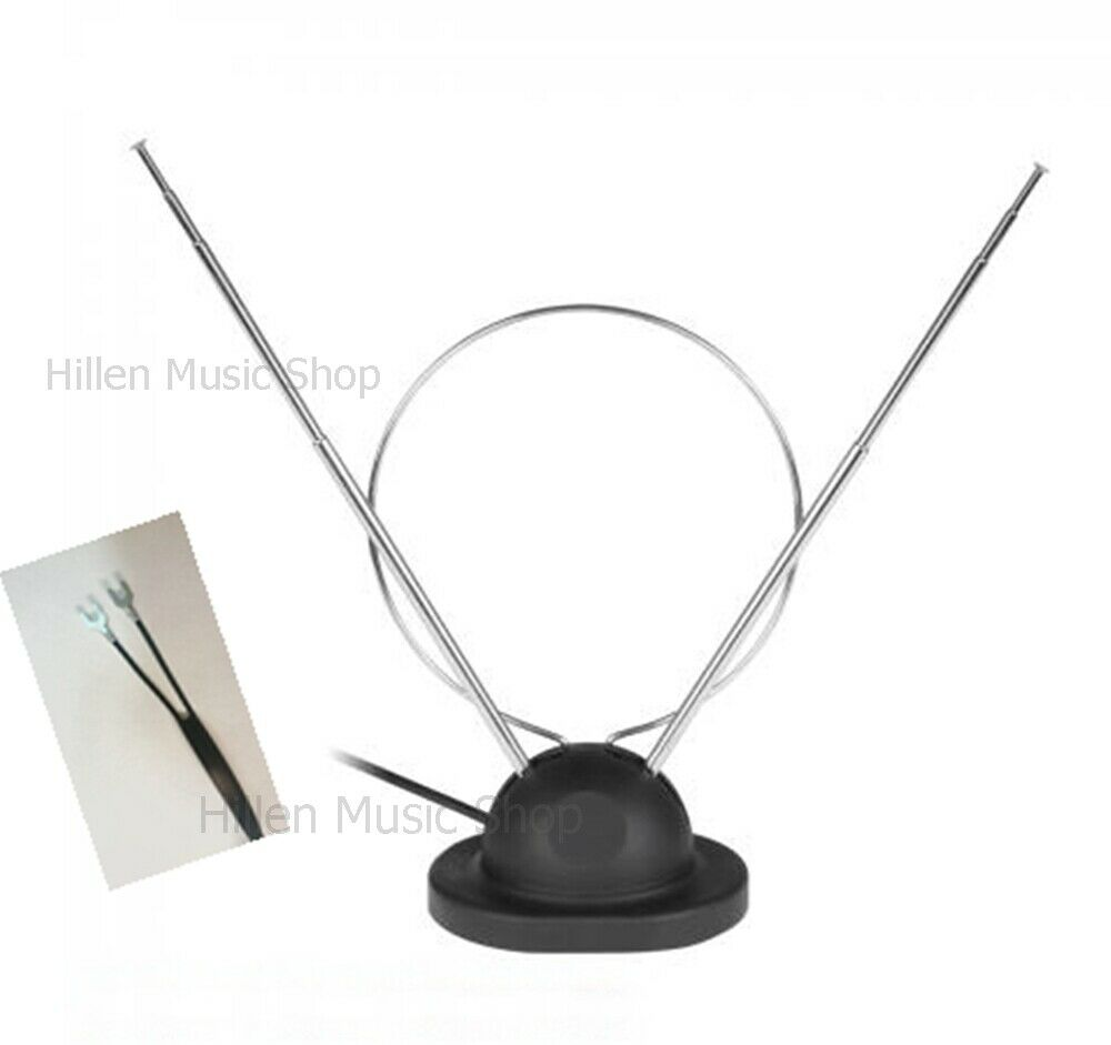 dvb t dvb t2 zimmerantenne auch f r ukw fm ausziehbar mit anschlu adapter ebay. Black Bedroom Furniture Sets. Home Design Ideas