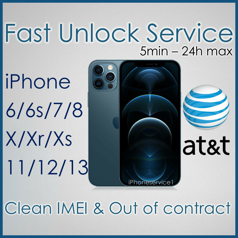 factory unlock service code at t att apple iphone 3 4 4s 5 5s 6 6s 7 imei clean ebay. Black Bedroom Furniture Sets. Home Design Ideas