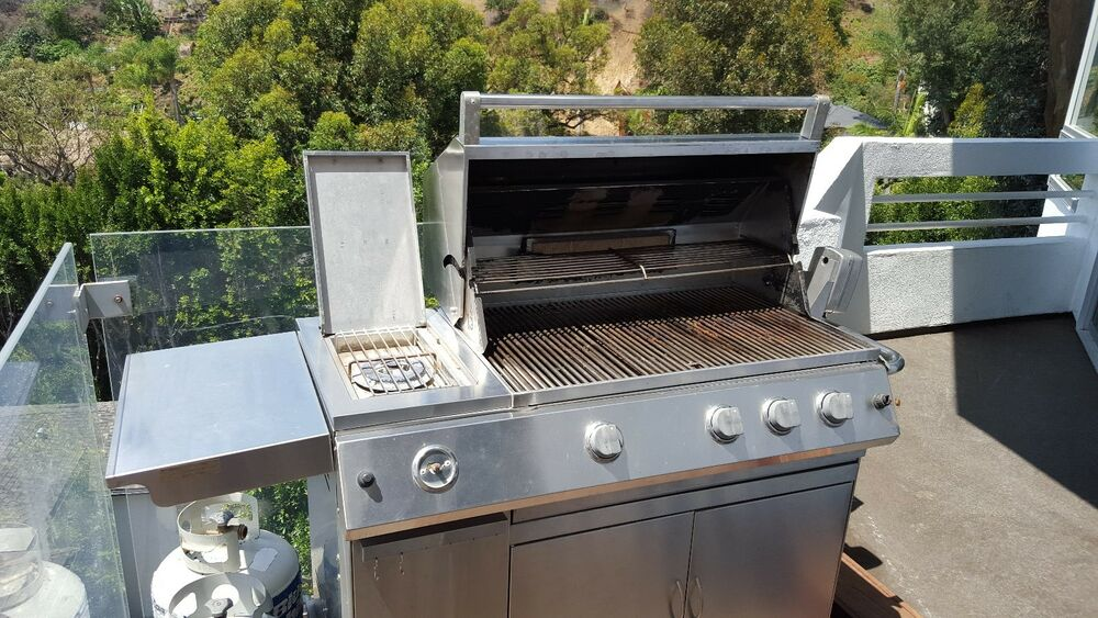 bbq patio classic stainless steel gas grill w rotisserie