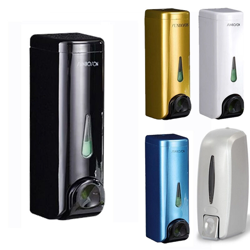 5 farben luxus wandmontage seifenspender shampoo spender soap dispenser 350ml ebay. Black Bedroom Furniture Sets. Home Design Ideas