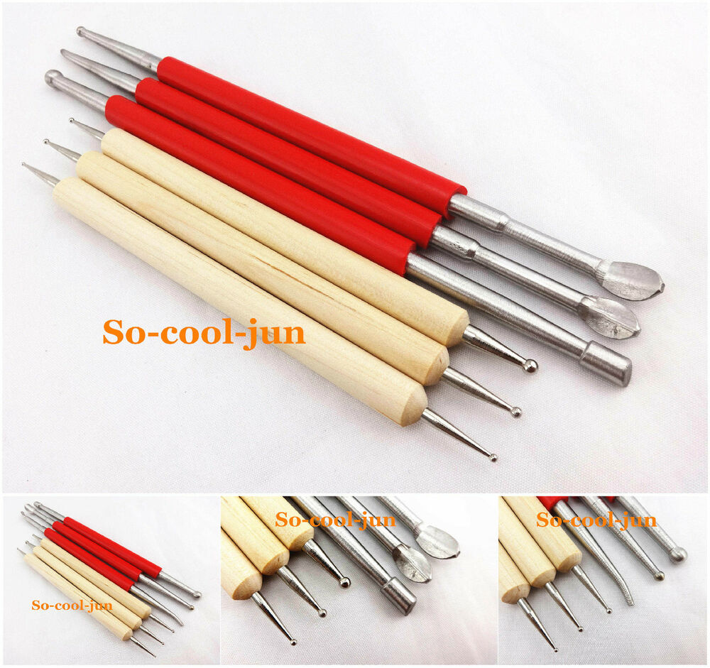 Lot of leather craft modelling spoon carving tool set