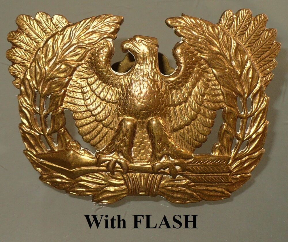 Eagle Hat Pin: VINTAGE WWII US ARMY WARRANT OFFICER EAGLE HAT PIN