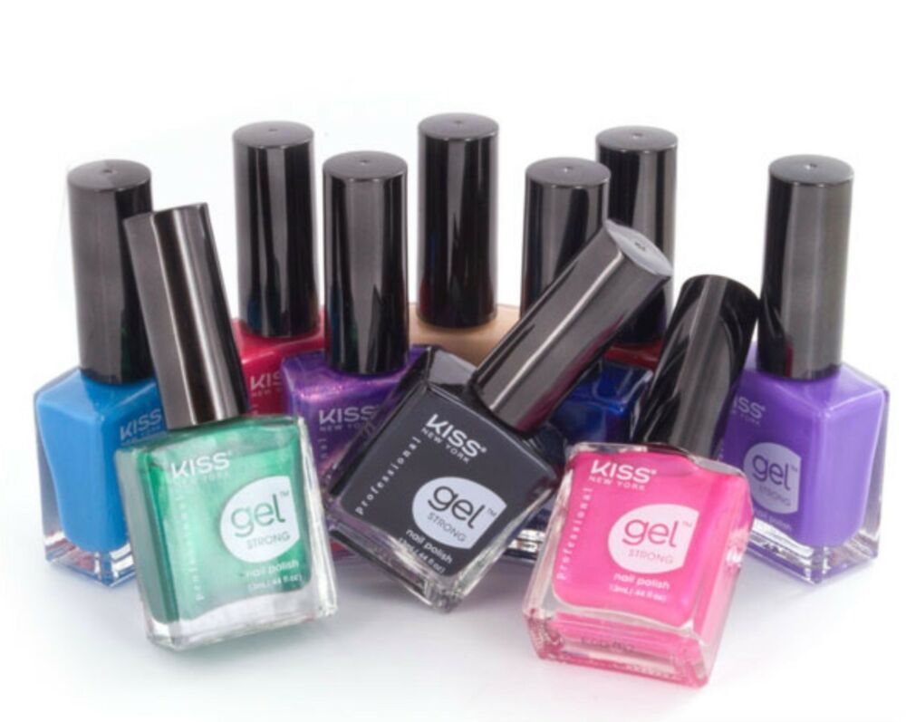 KISS NEW YORK GEL STRONG NAIL POLISHES LAST UP TO 14 DAYS CHOOSE ...