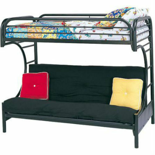Bunk Beds Futon Kids Bed Black Metal Furniture Convertible Dorm Ebay