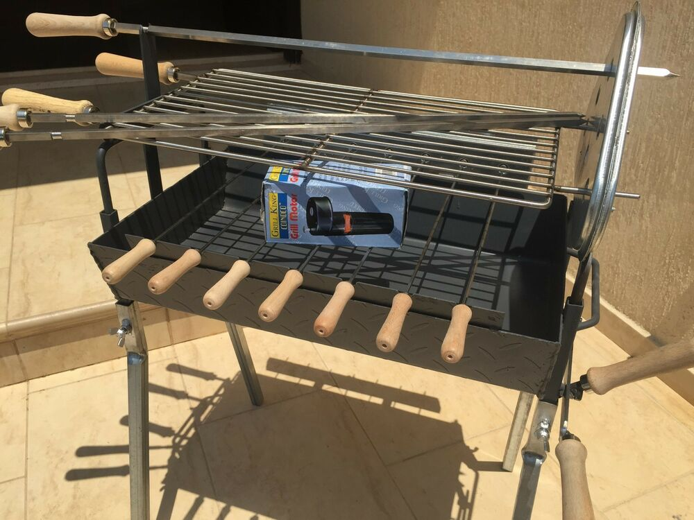 Traditional greek cypriot charcoal small barbecue for Bbq spit motors electric
