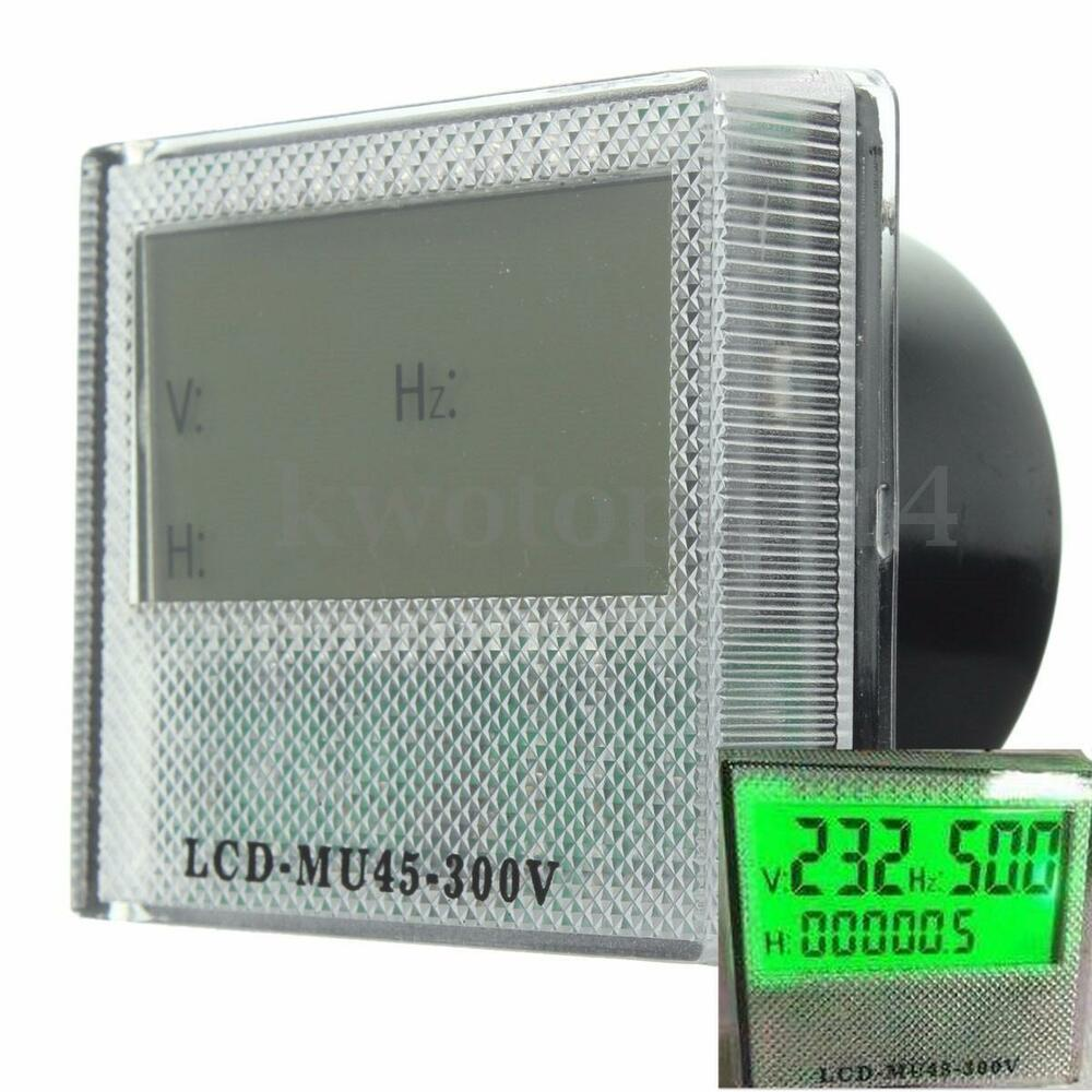 Ac Frequency Meter : Ac v in lcd generator digital hour frequency