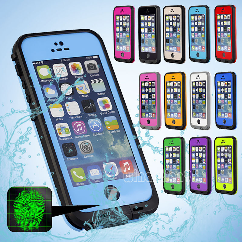 waterproof iphone 5 case waterproof shockproof touch id fingerprint scanner 16460