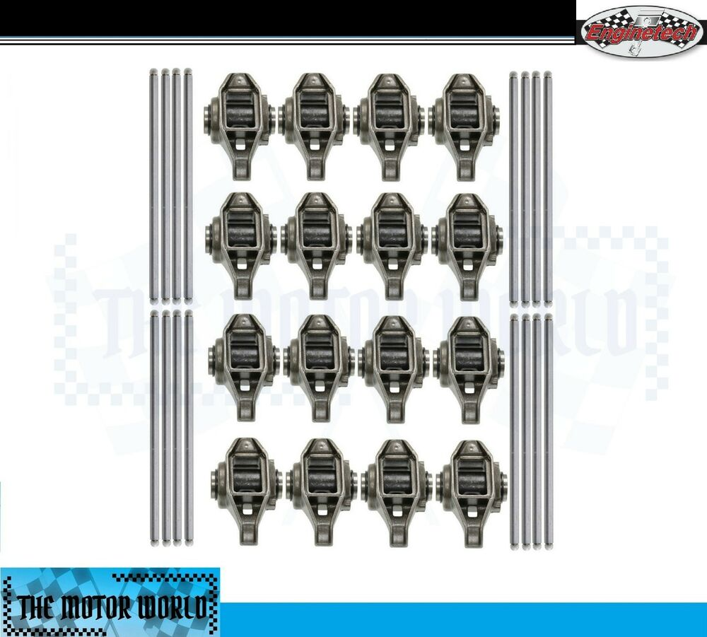 16 updated rocker arms with pushrods for gm 4 8 5 3 5 7 6