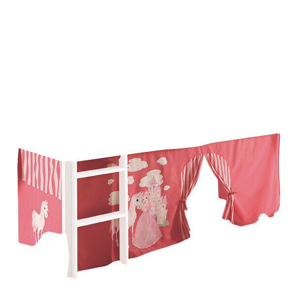 vorhang bettvorhang stoff prinzessin pferd f r hochbett spielbett kinderzimmer ebay. Black Bedroom Furniture Sets. Home Design Ideas
