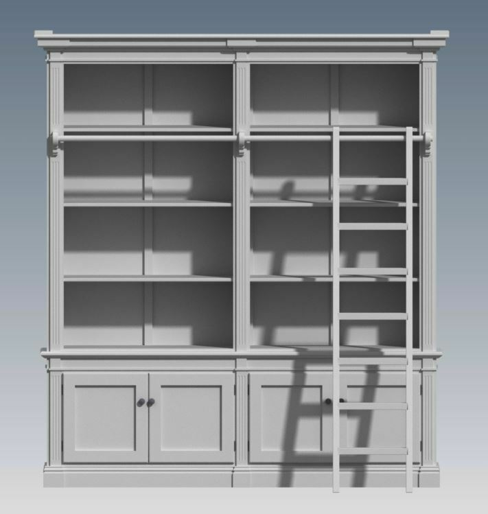 French provincial wall storage unit 2 module make ur own for Storage unit plans