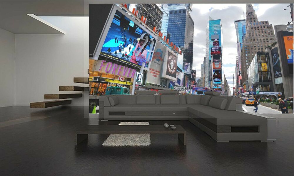 new york city times square wall mural photo wallpaper giant decor paper poster ebay. Black Bedroom Furniture Sets. Home Design Ideas