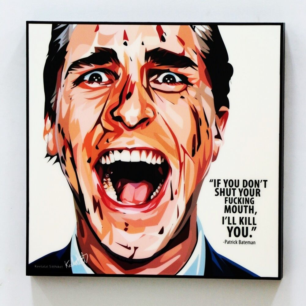 Wall Decals Pop Art : Patrick bateman canvas quotes wall decals photo painting