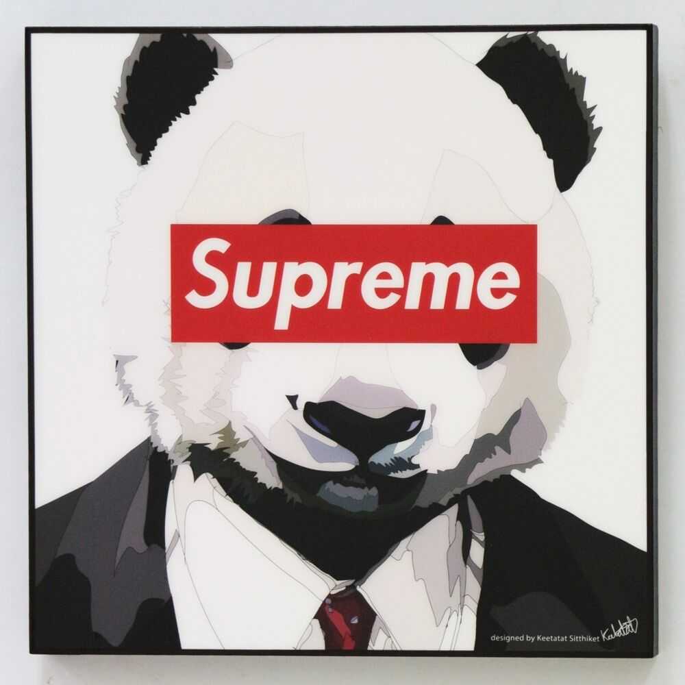 Wall Decals Pop Art : Supreme panda canvas quotes wall decals photo painting