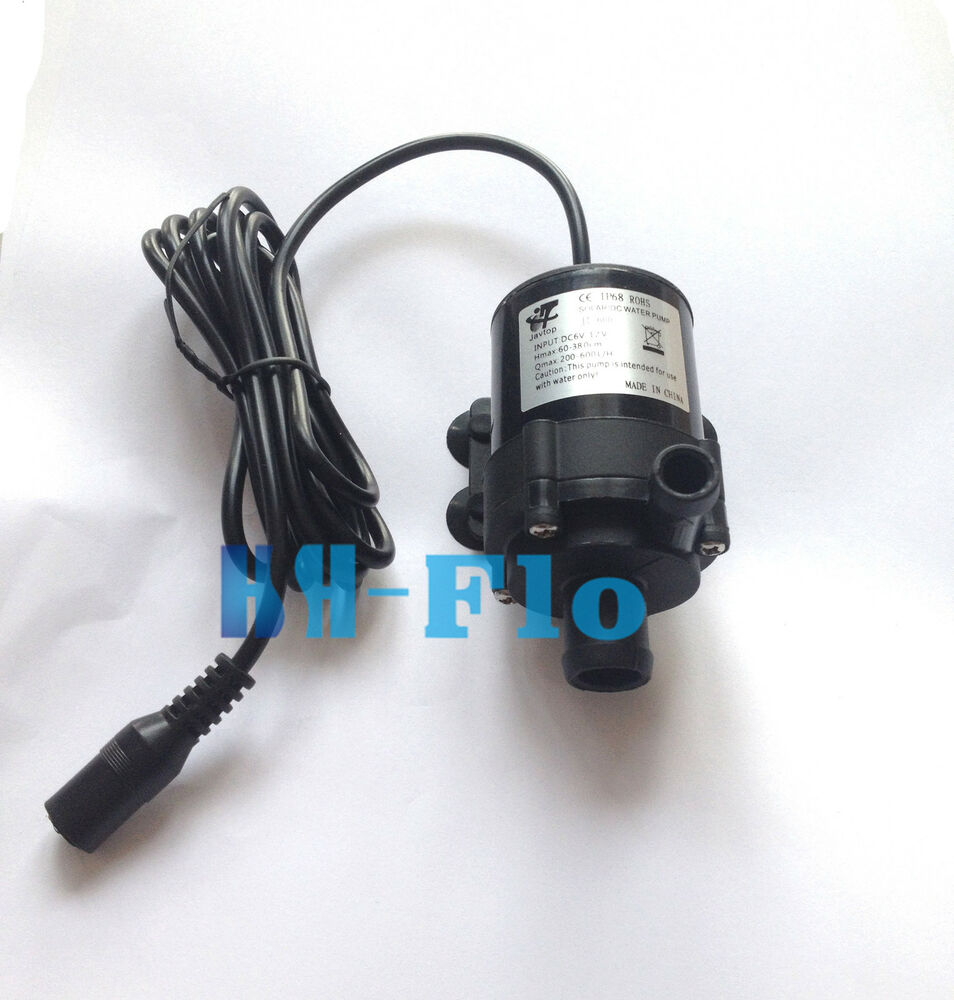 New 10l min 12v dc mini brushless motor submersible water for Dc motor water pump