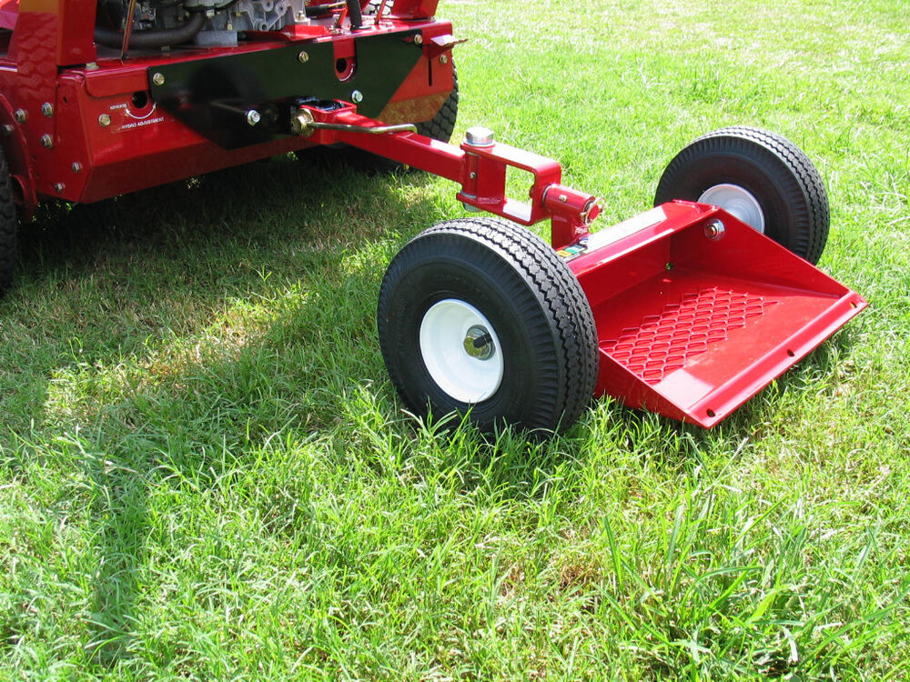 Red Pro Sulky Pneumatic Tires Ps100r Fixed Wheel Mower