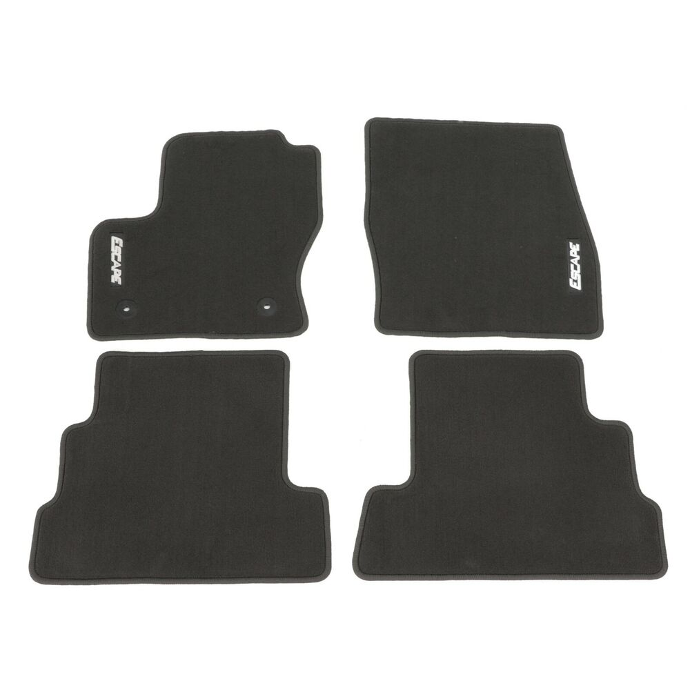 Ford Escape Rubber Floor Mats 2013-2016 Ford Escape Carpeted Floor Mats Charcoal Black Front & Rear ...