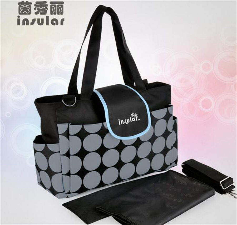 black new baby mother women 39 s tote handbag girl knapsack diaper shoulder bags ebay. Black Bedroom Furniture Sets. Home Design Ideas