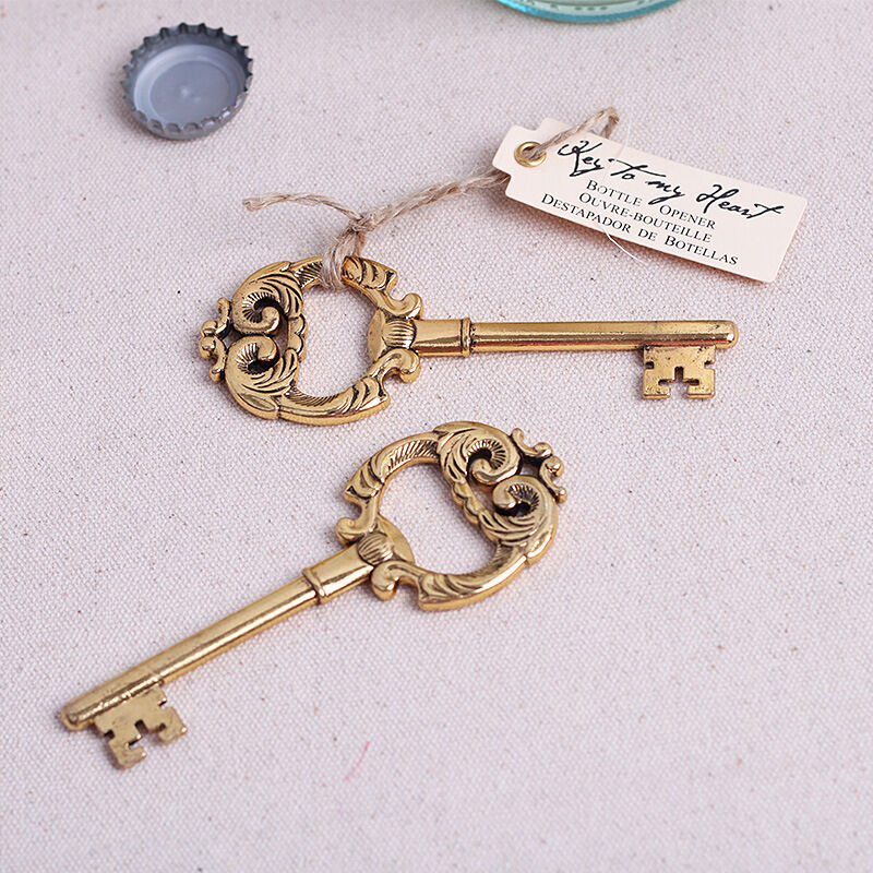 20pcs vintage key bottle opener wedding favor beer bottle for Bottle opener wedding favor
