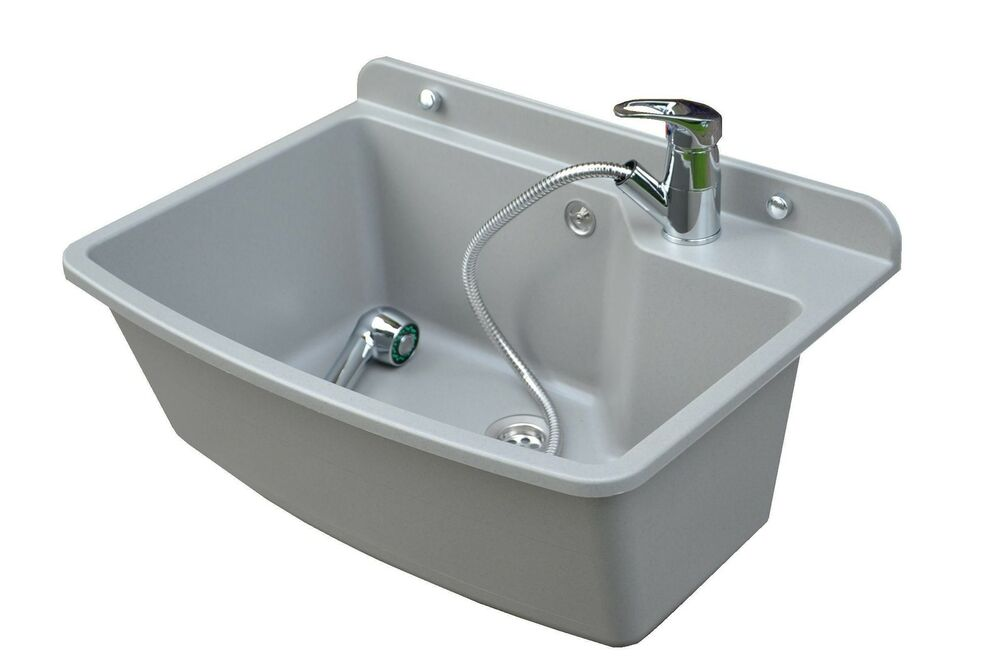 Granite Laundry Sink : Tough Sink MAXIMUS grey granite -laundry, utility, industrial, garage ...