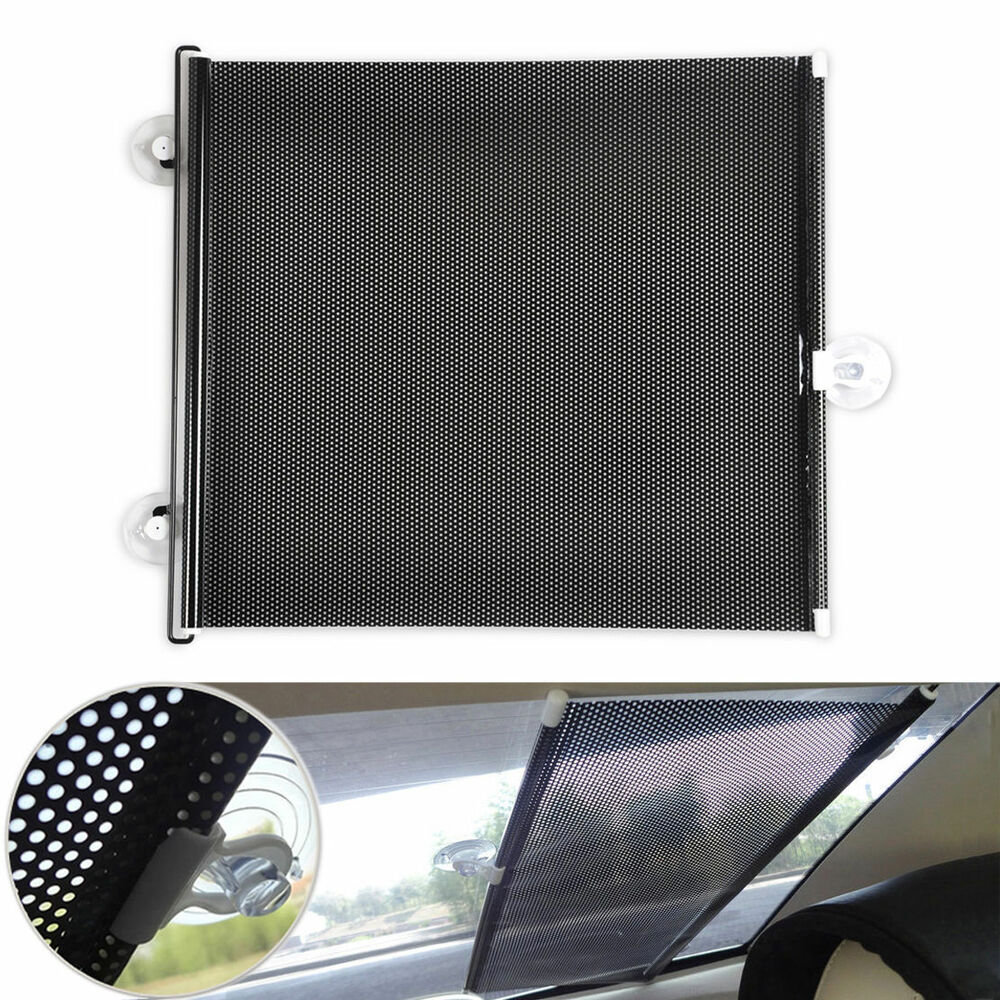 car window black roller block blinds shades for sun visor windshield 40 125cm ebay. Black Bedroom Furniture Sets. Home Design Ideas