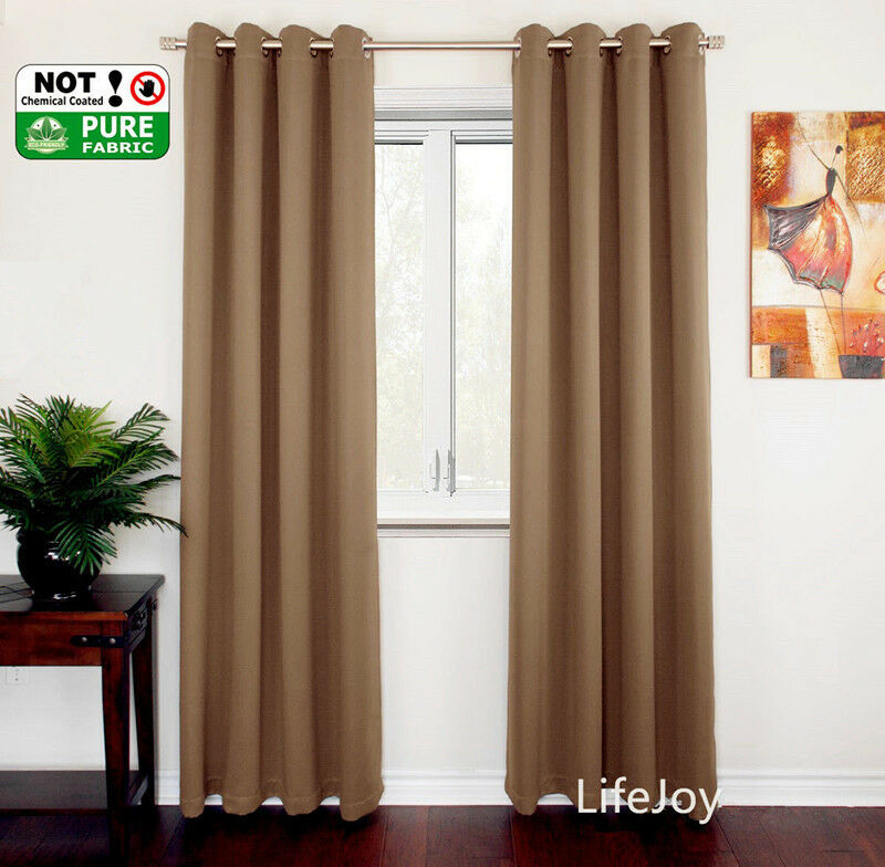 High Quality Blockout Blackout Eyelet Curtains Darkness Ebay