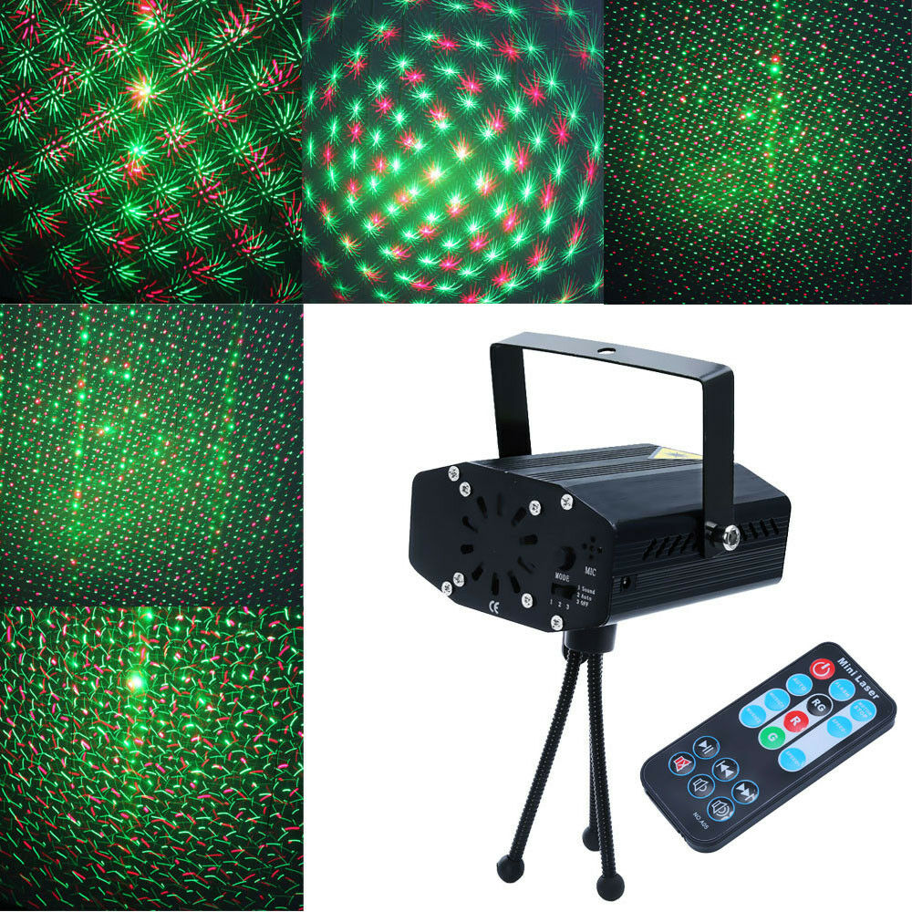 Mini Stage Lighting Laser Projector Led R Amp G Xmas Party Dj