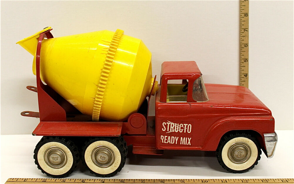 Mixer Truck Toy : Vintage s structo ready mix cement mixer toy truck
