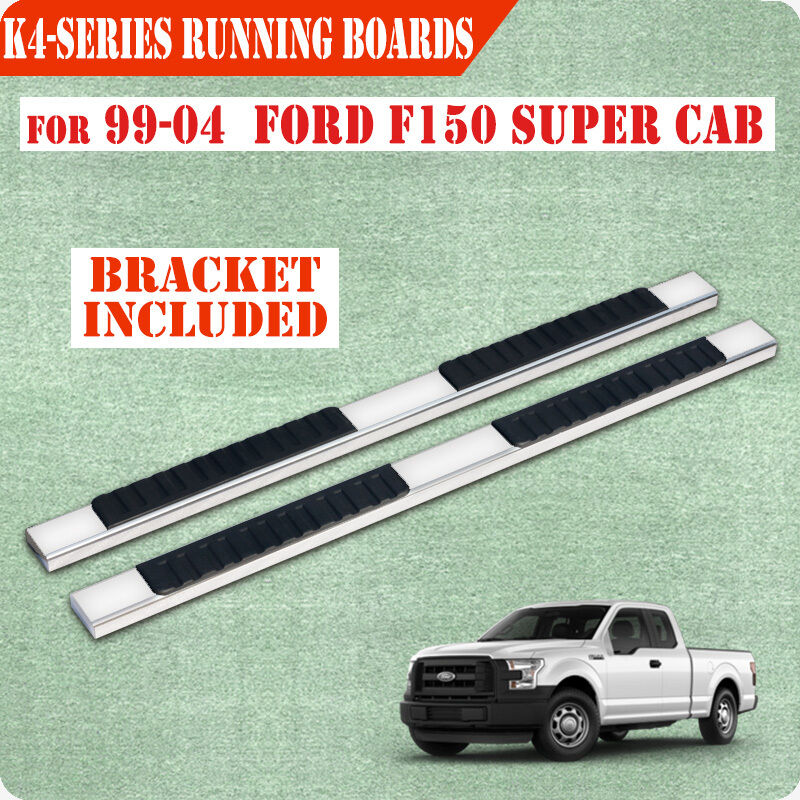 "Ford F150 99: 99-04 FORD F150/F250LD Super Cab 4"" Nerf Bar Running Board"