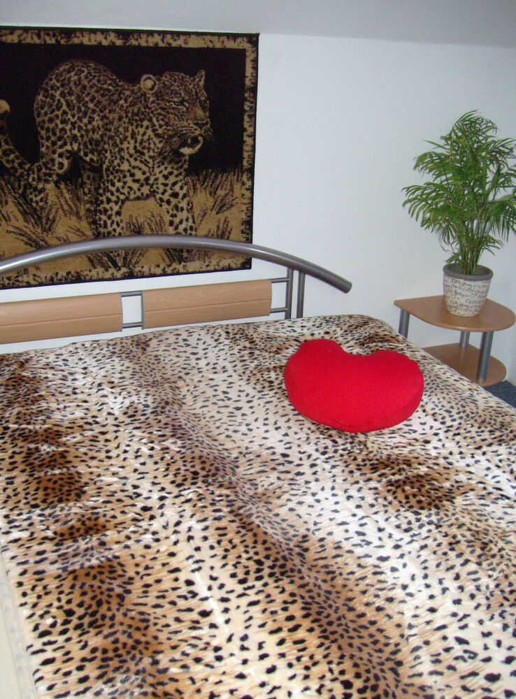 kuscheldecke tagesdecke gepard design 160 x 200 g5t7u ebay. Black Bedroom Furniture Sets. Home Design Ideas