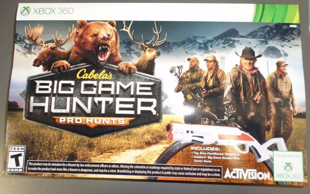 Hunting Games For Xbox 1 : Xbox cabela s big game hunter pro hunts bundle with