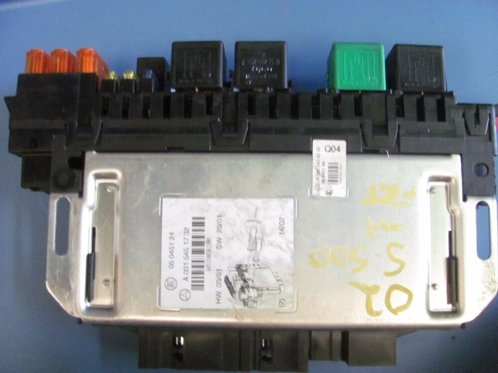 2000 s500 fuse box 2000-2002 mercedes s430 s500 front right sam fuse box ...