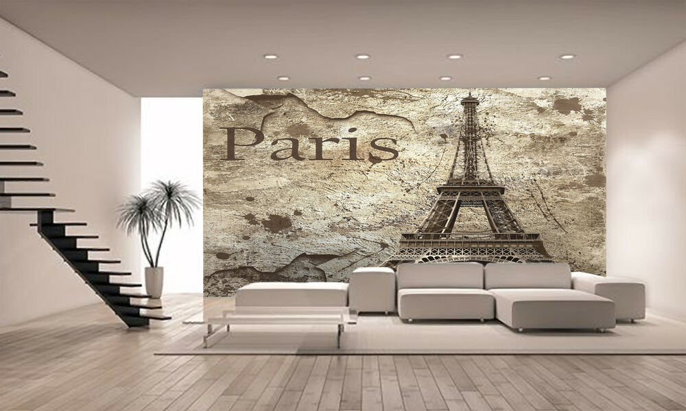 Vintage view of paris wall mural photo wallpaper giant - Photo decoration on wall ...