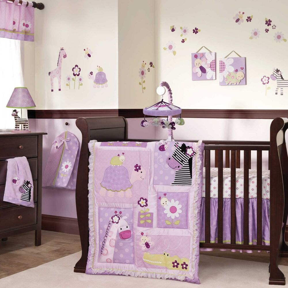 Giraffe Baby Girl Crib Bedding