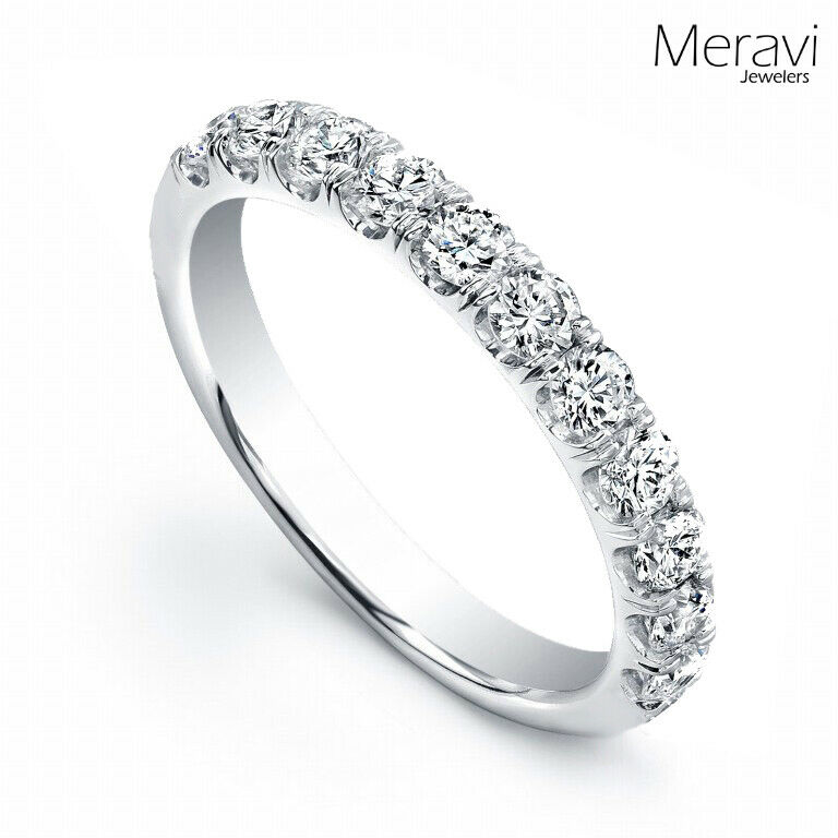 925 Sterling Silver Womens Wedding Bridal Band CZ Accent