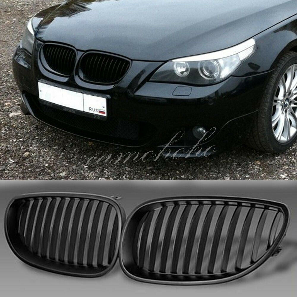 Bmw Grills: Front Black Sport Wide Kidney Grilles Grill For BMW E60