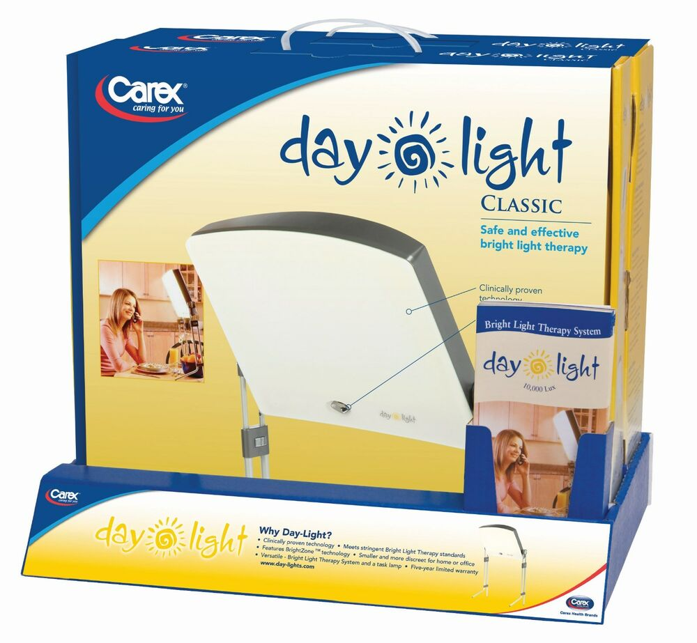 bright light sad therapy lamp box day 10 000 lux sleep energy ebay. Black Bedroom Furniture Sets. Home Design Ideas