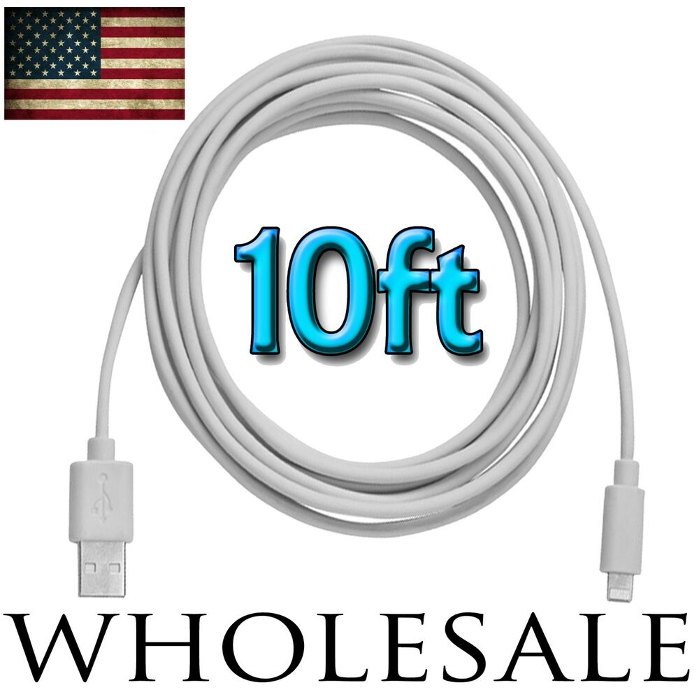 10ft iphone 5 charger 10ft usb cable data sync charger cord for iphone 7 6s 6 13341