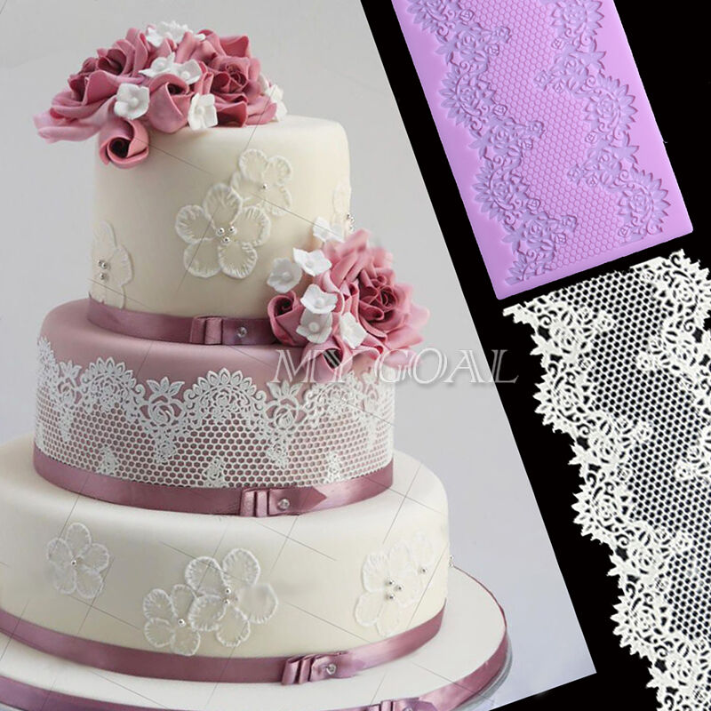Cake Decorating Silicone Molds Uk : Empire Silicone Fondant Lace Mould Cake Decorating Baking ...