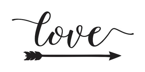 stencil love w arrow 6x12 for signs wood fabric canvas wedding crafts ebay. Black Bedroom Furniture Sets. Home Design Ideas