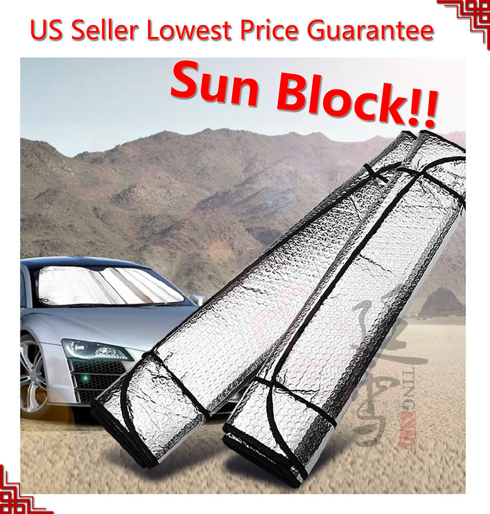 auto car sun shade foldable metallic visor wind shield reflective shade ebay. Black Bedroom Furniture Sets. Home Design Ideas