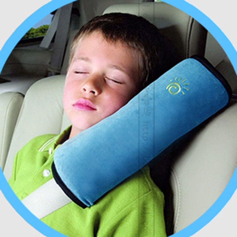 baby kids head neck pad headrest child cushion car seat soft cotton pillow ebay. Black Bedroom Furniture Sets. Home Design Ideas
