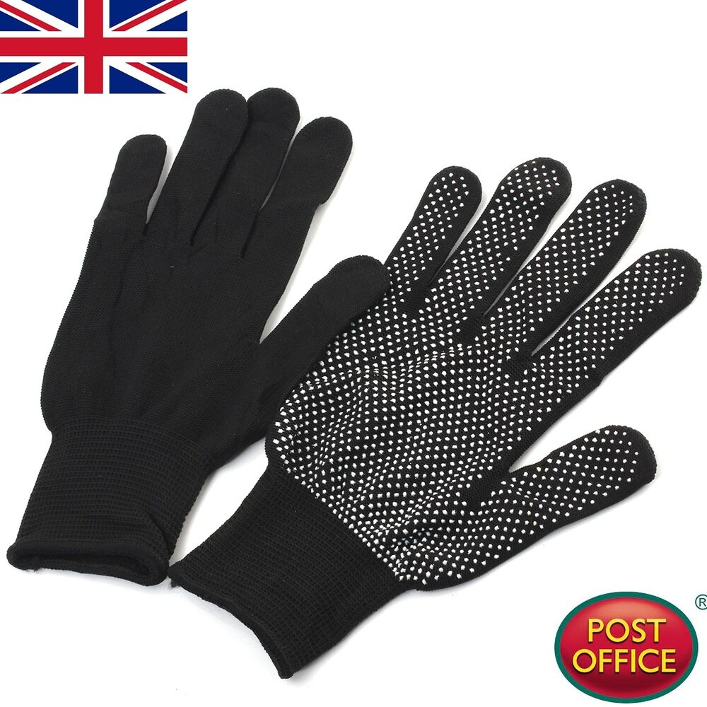heat resistant gloves for hair styling uk dual hair straightener perm curling hairdressing heat 4033
