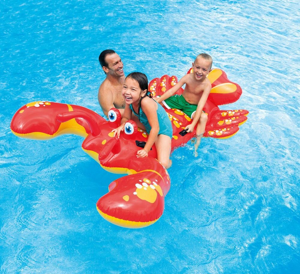 Intex Inflatable Float Ride On Lobster Swimming Pool Toy