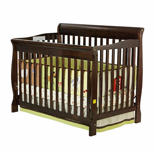 5 Cool Cribs That Convert To Full Beds: NEW 5 In 1 Convertible Baby Crib Toddler Nursery Bed