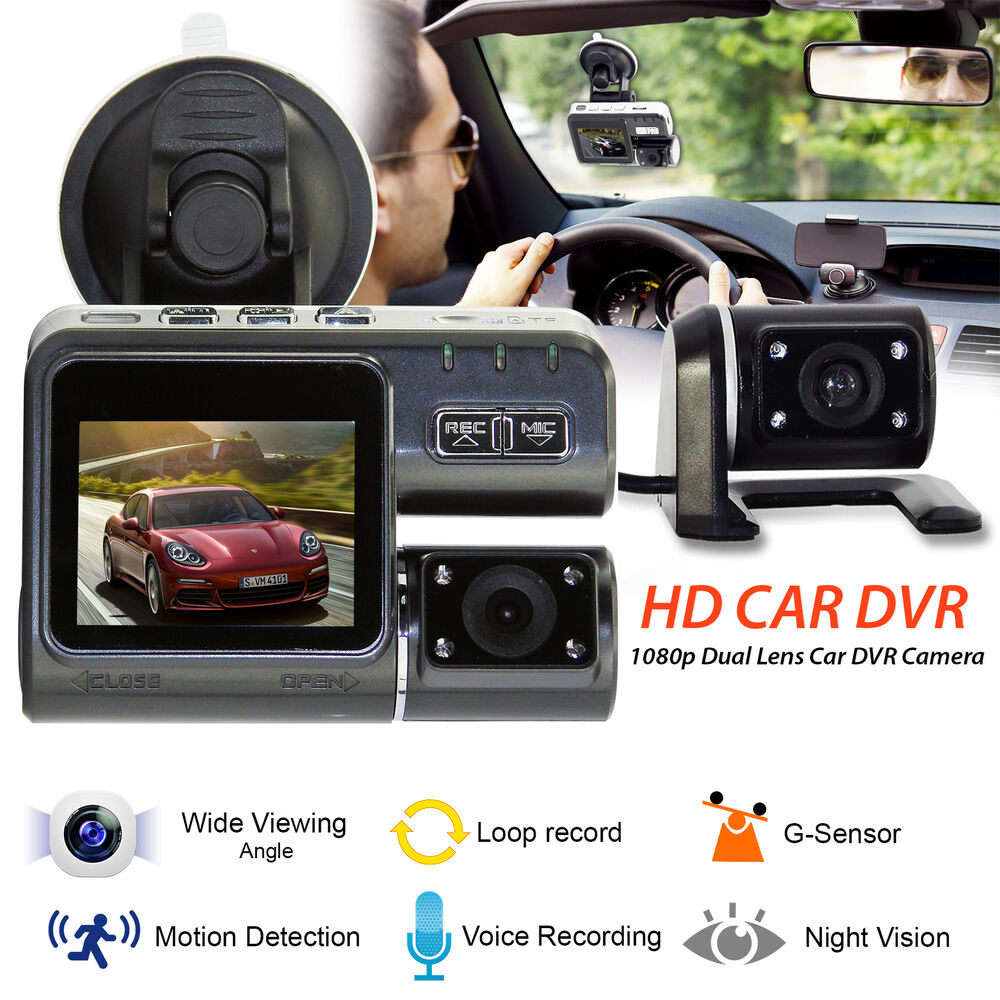 new 1080p hd 2 7 dual lens vehicle car dvr video dash. Black Bedroom Furniture Sets. Home Design Ideas