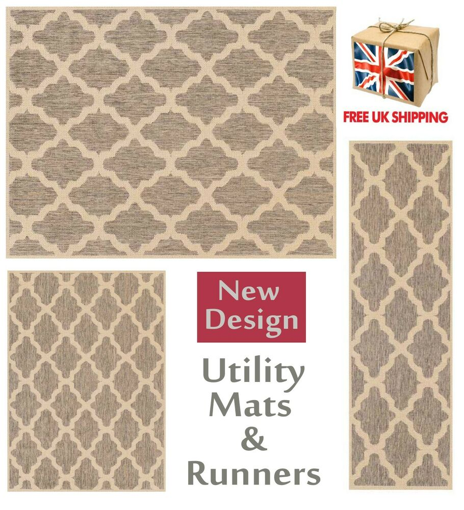 Trellis Flatweave Utility Mats Kitchen Rugs Hall Runners