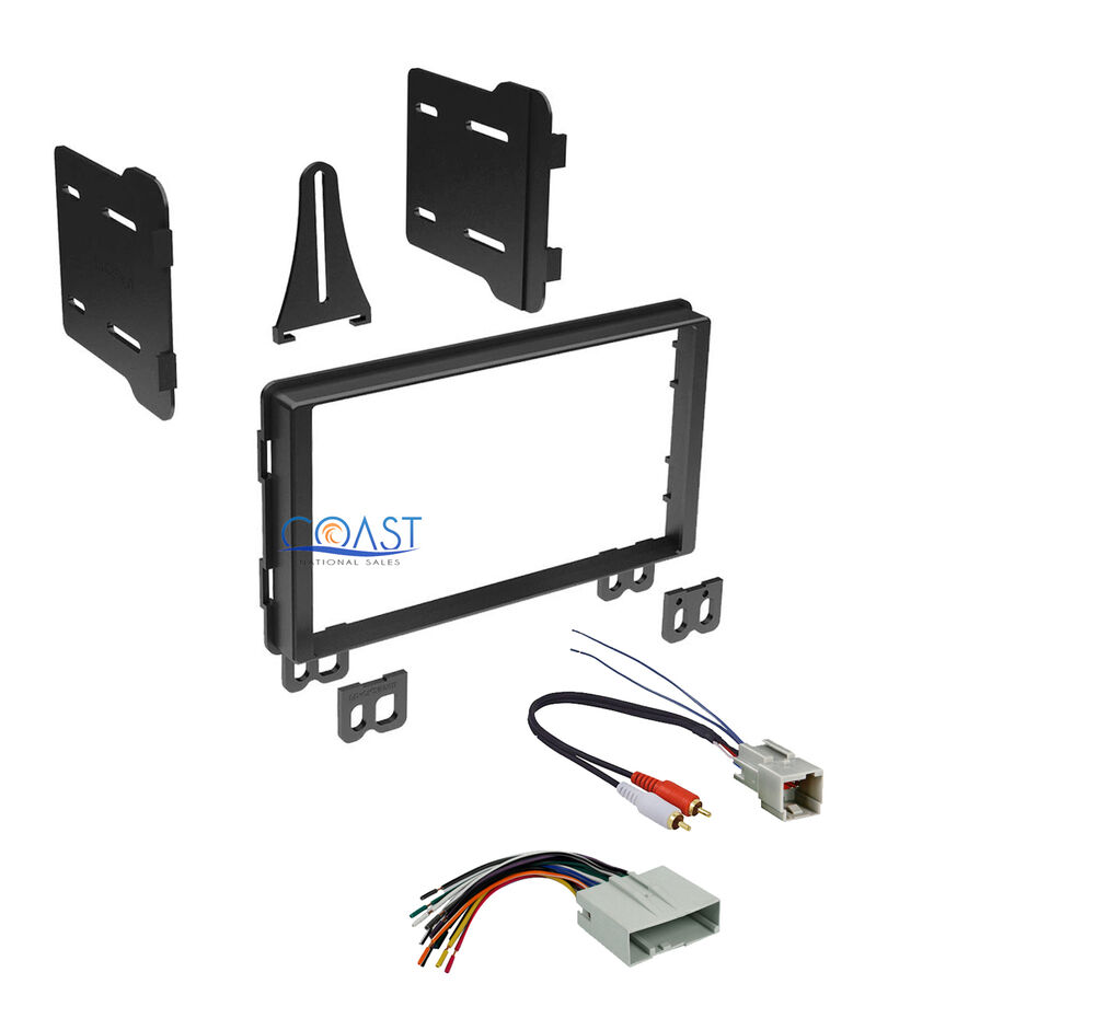 Car Double Din Stereo Dash Kit Harness For 2001